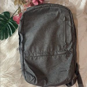 NWOT Incase laptop backpack grey